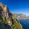 Cliffside Road on the Amalfi Coast, Italy