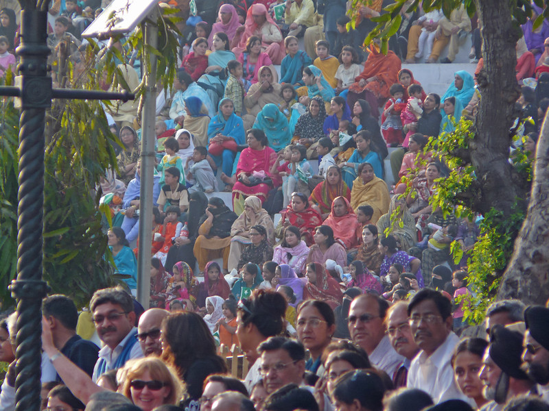 Pakistani Women and Indian VIPs Watching the Ceremony, Attari Border
