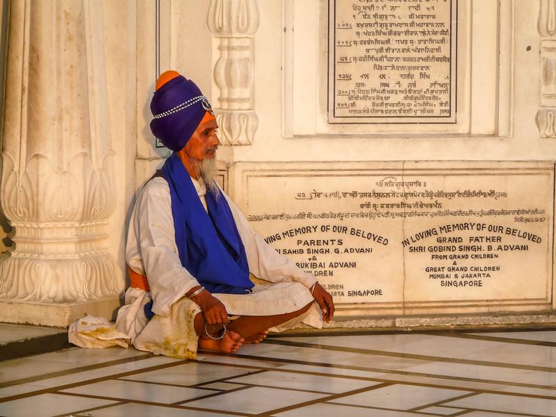 Meditating Man, Golden Temple, Amritsar