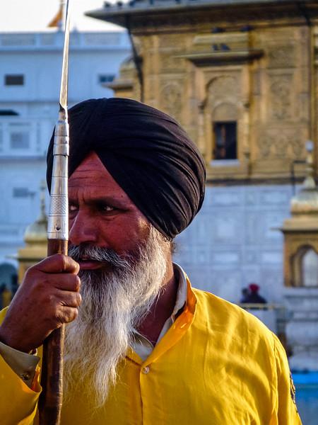 Spearman Closeup, Golden Temple, Amritsar