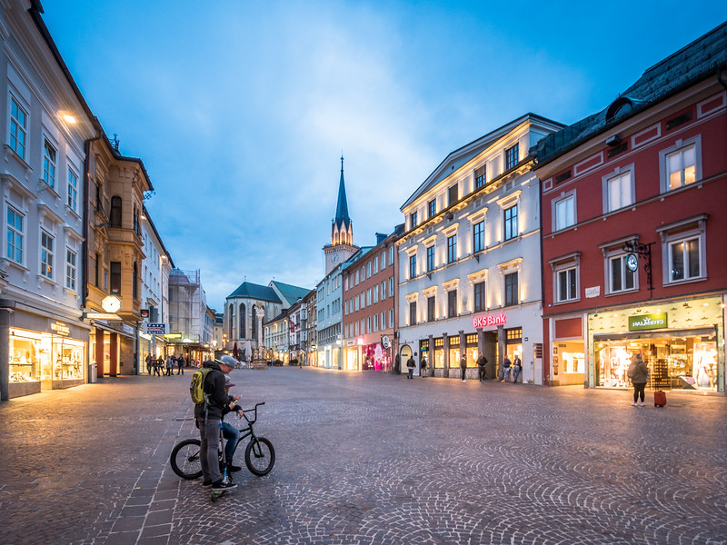 Evening in the Old Town, Villach, Austria