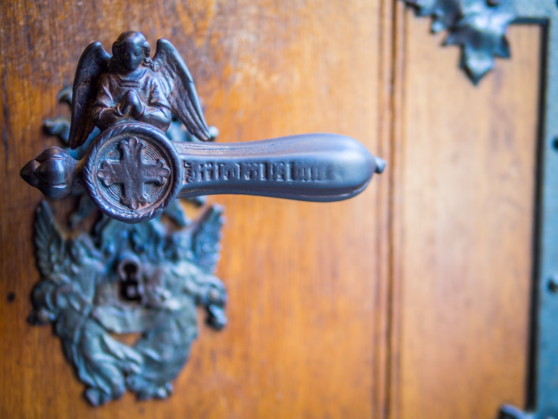 Angel Doorknob, Hohenzollern Castle, Swabia