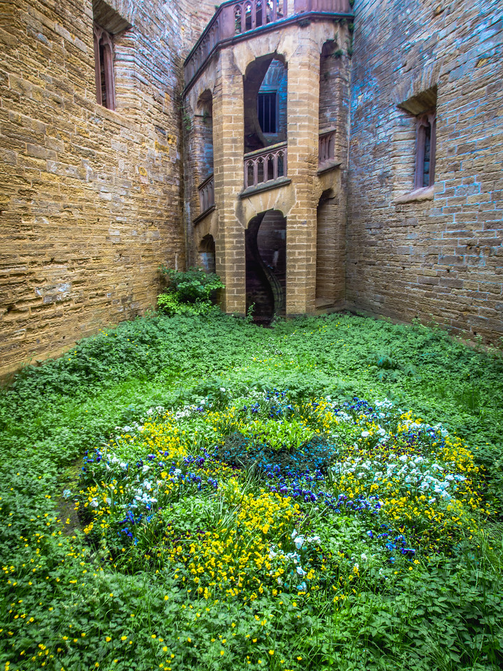 Flowered Courtyard, Hohenzollern Castle, Swabia
