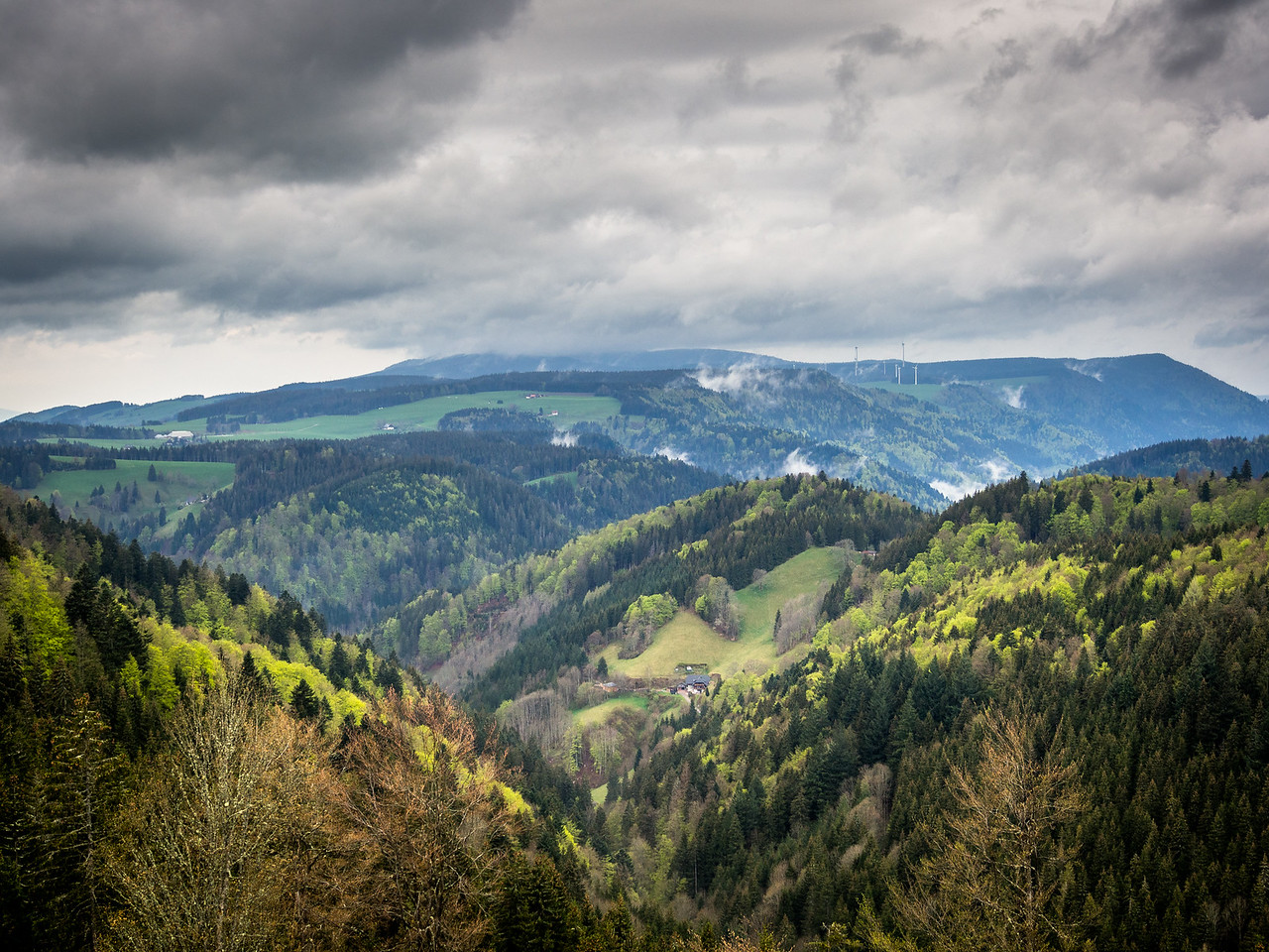 Storm Clouds over the Black Forest, Germany