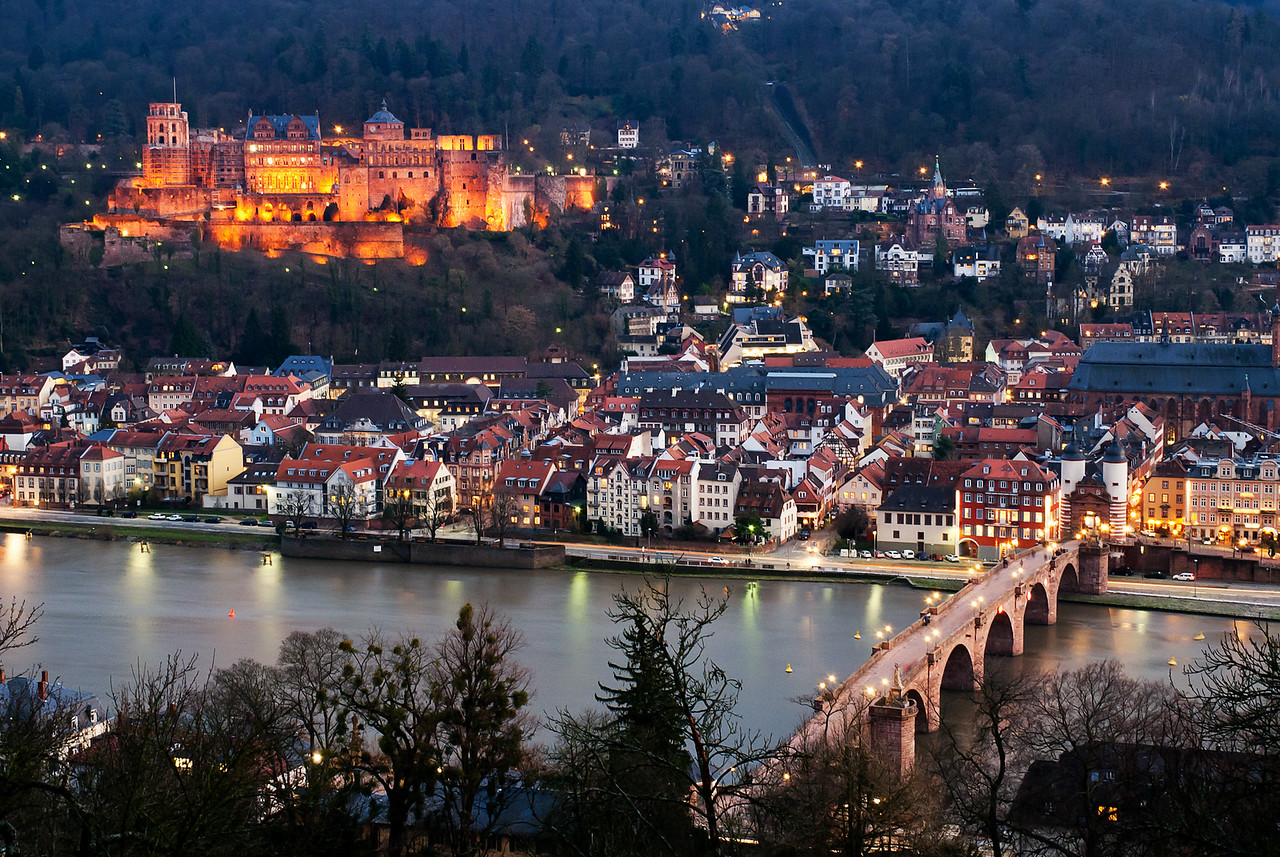 Winter Evening in Heidelberg, Germany