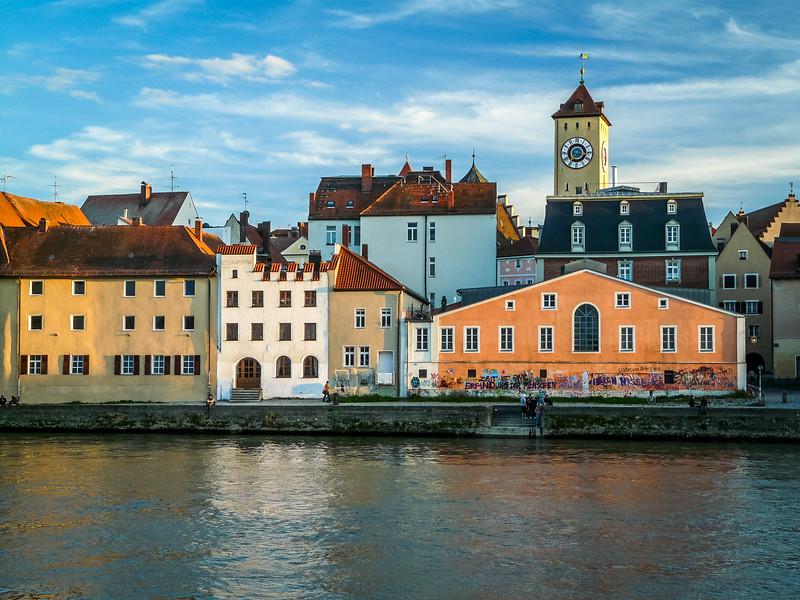 Colorful Houses on the Danube, Regensburg
