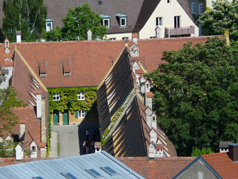 Fuggerei from Above, Augsburg