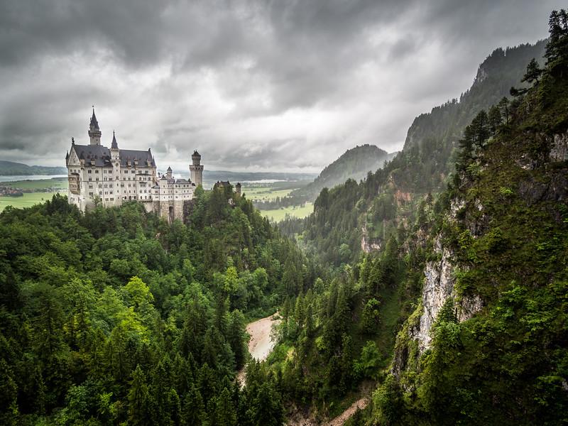 Neuschwanstein in the Gray, Germany
