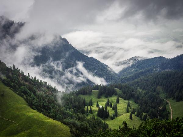 Alm über den Wolken, Herzogstand, Bavaria, Germany