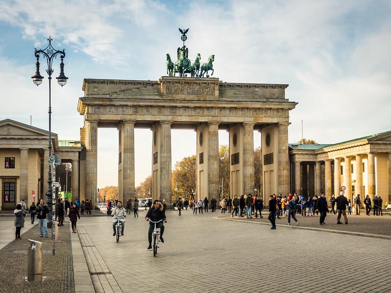 Crowds at the Brandenburg Gate, Berlin