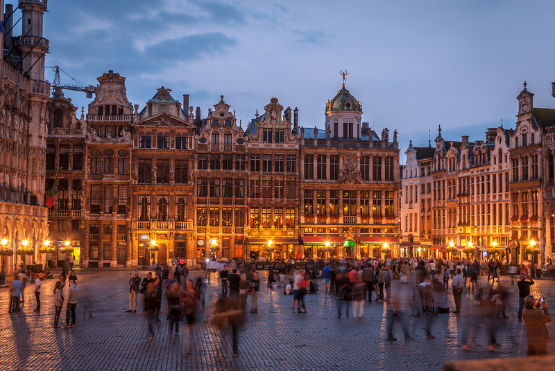 Night on the Grote Markt, Brussels