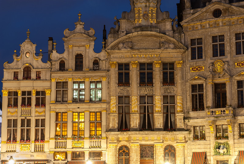 Night Lights on the Guildhouse Façades, Brussels