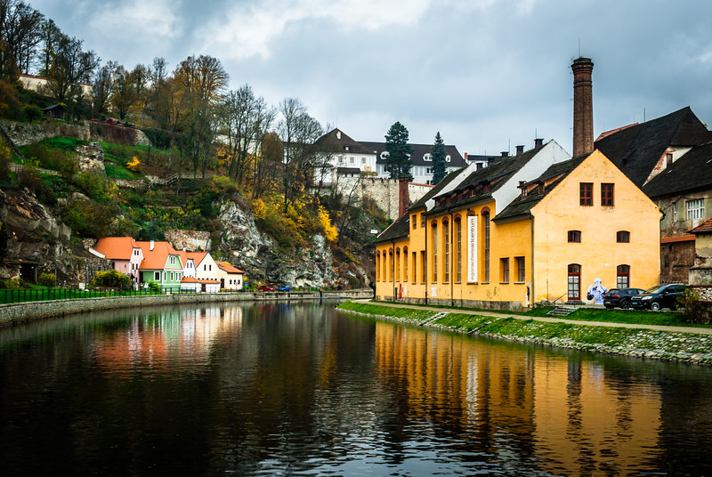 Yellow Reflection, Český Krumlov, Czech Republic