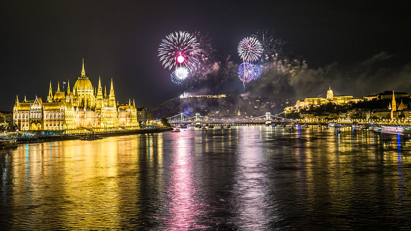 Celebrating the 20th of August, Budapest, Hungary