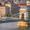 Chain Bridge Tower and Pest Bank, Budapest