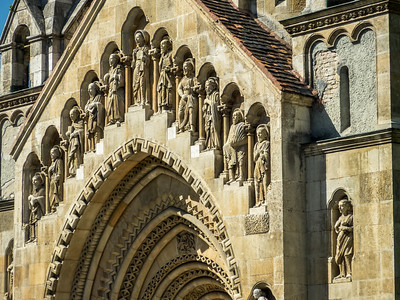 Saints on the Chapel of Vajdahunyad, Budapest, Hungary