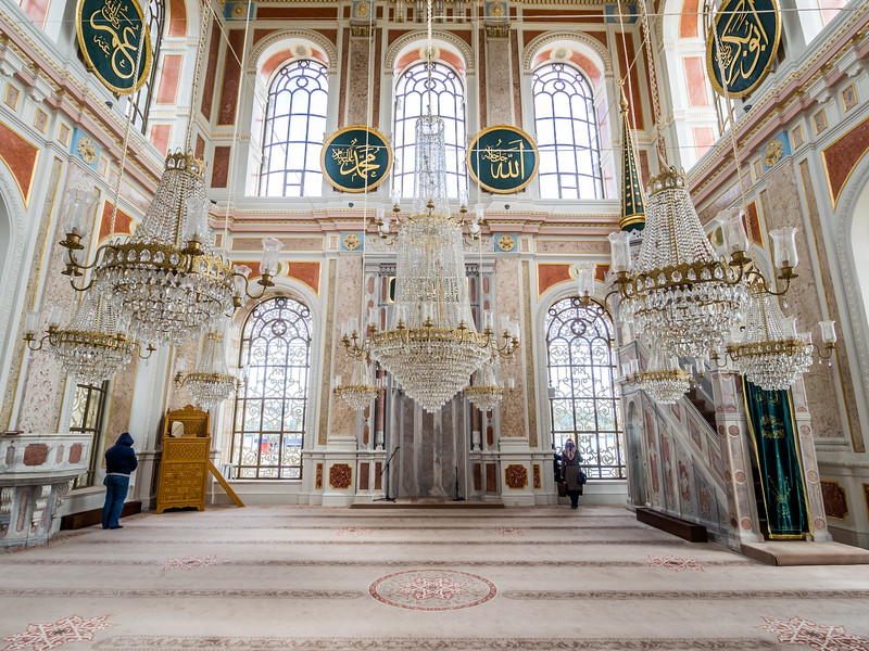 Inside the Ortaköy Mosque, Istanbul