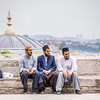 Three Young Men, Istanbul, Turkey