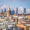 Galata Tower and Distant High Rises, Istanbul