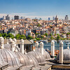 Morning Panorama of Beyoğlu, Istanbul, Turkey