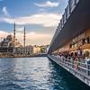 Restaurants and Anglers on the Galata Bridge, Istanbul