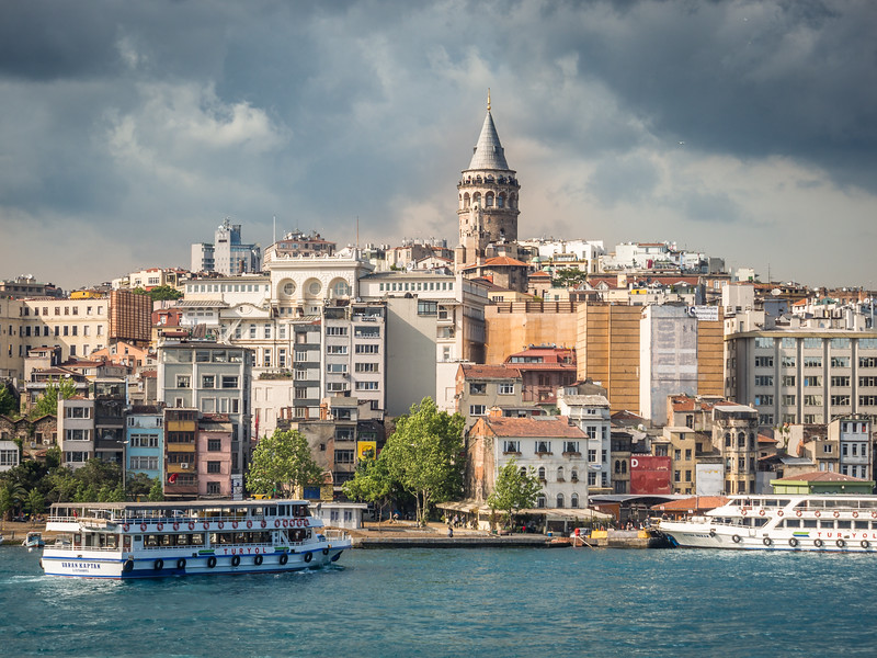 Galata Tower and Riverfront, Istanbul