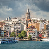 Galata Tower and Riverfront, Istanbul, Turkey