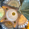 Looking up inside the Yeni Mosque, Istanbul