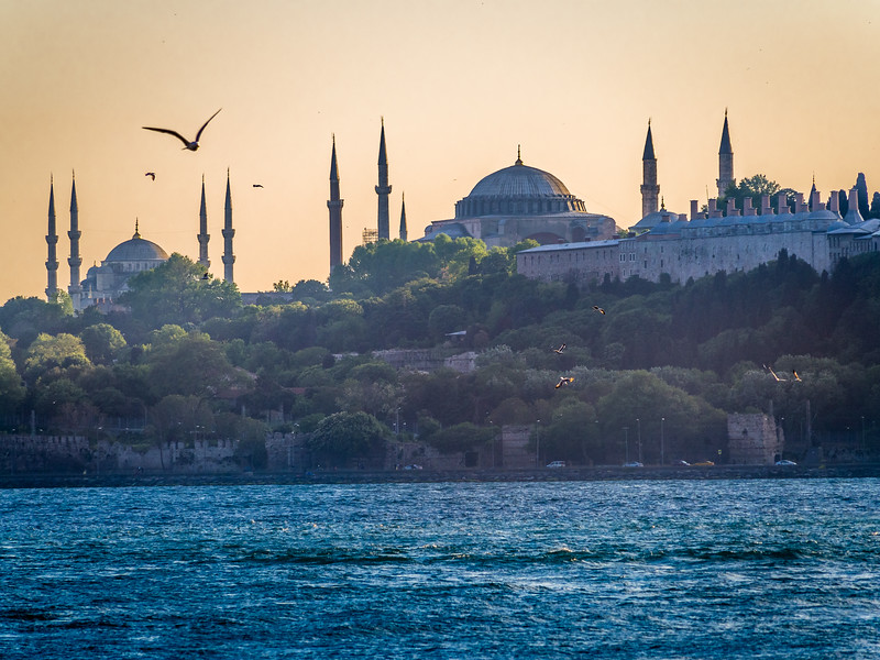 Evening over the Hagia Sophia and Blue Mosque, Istanbul
