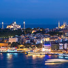Hagia Sophia and Blue Mosque at Night, Istanbul