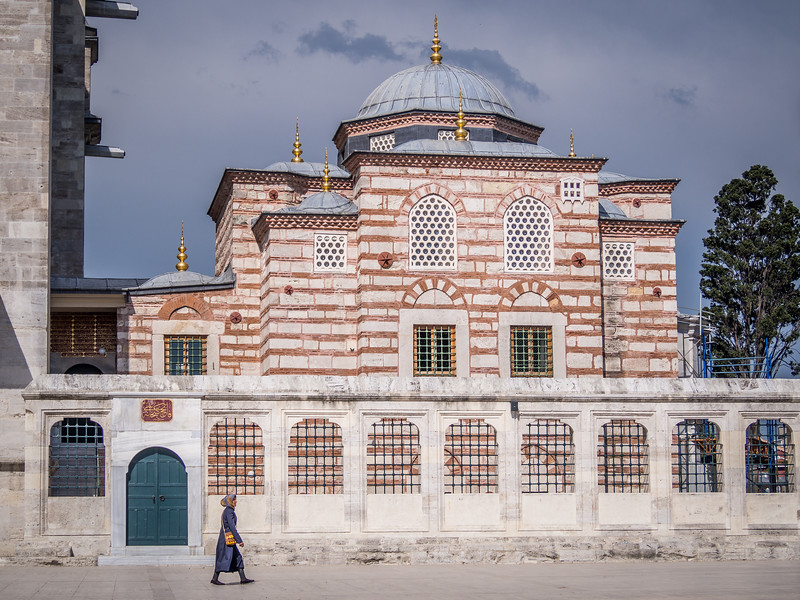 Woman and Annex at Fatih Mosque, Istanbul