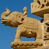 Battle Elephant Carving, Jain Temple, Thar Desert