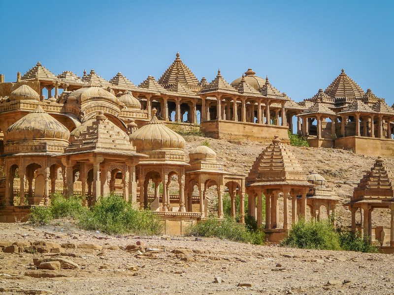 Chhatris at Baba Bagh, Thar Desert