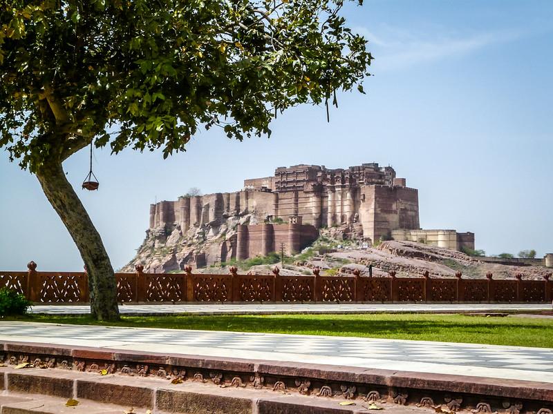 Mehrangarh Fortress from Gardens of Jawant Thada, Jodhpur, India