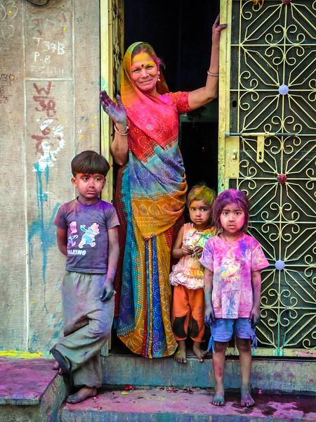 Happy Holi from Woman and Kids, Jodhpur