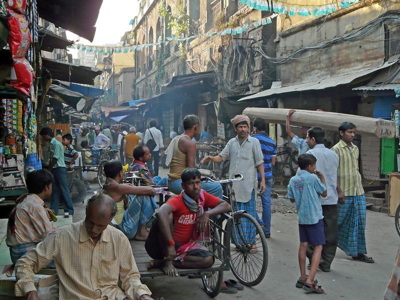 Busy Street Scene, Kolkata