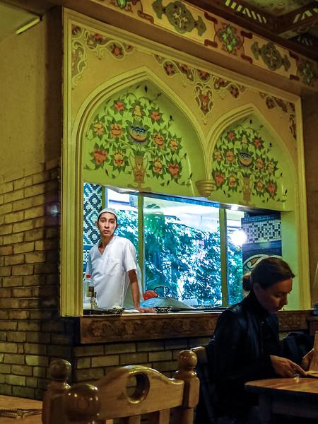 Kitchen at the Azeri restaurant, Arbat, Moscow