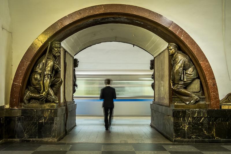 Subway Sentinels, Ploschad Revolutsii, Moscow, Russia