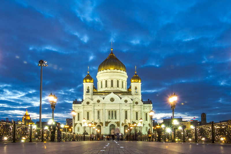 Cathedral of Christ Our Savior at Night, Moscow