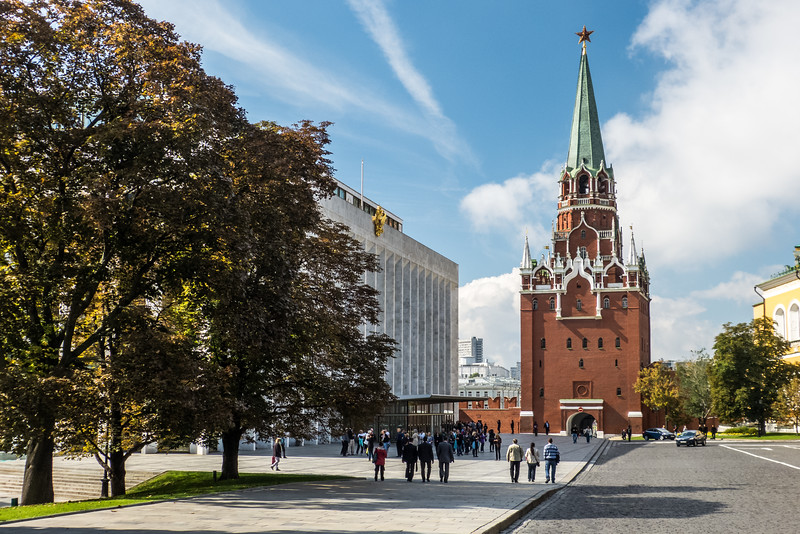 Spasskaya Tower from inside the Kremlin, Moscow