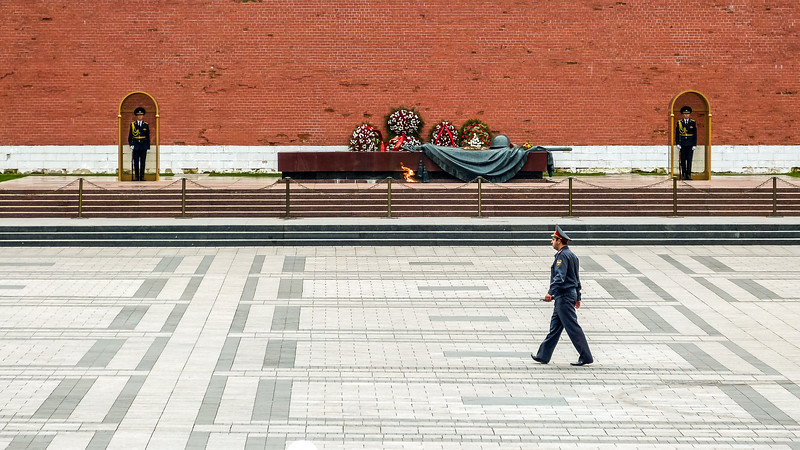 Tomb of the Unknown Soldier, Kremlin, Moscow, Russia