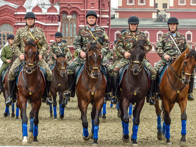 Russian Calvary, Red Square, Moscow