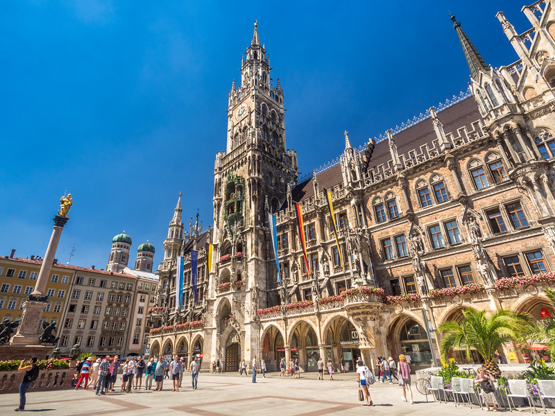 Summer Skies on Marienplatz, Munich, Germany