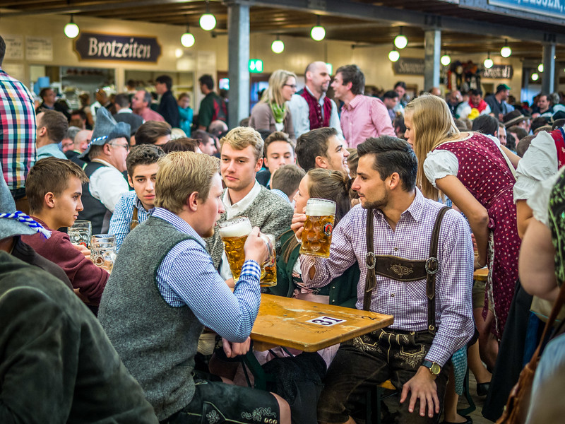 Bonding over Beers, Oktoberfest, Munich, Germany