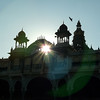 Backlit Palace with Eagle, Mysore