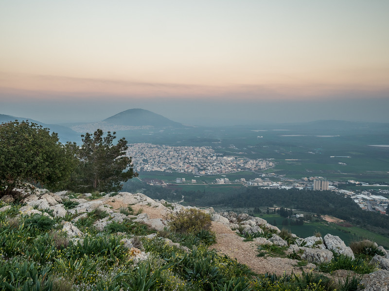 Evening over Mt. Tabor from Nazareth, Israel