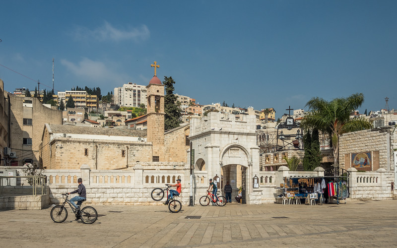 Teenagers at the Greek Orthodox Church, Nazareth, Israel