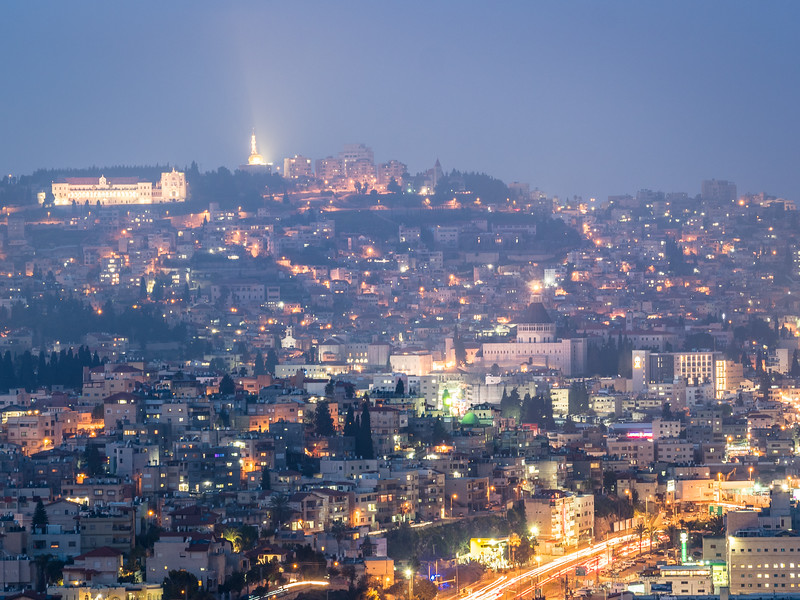 Nazareth at Night, Israel