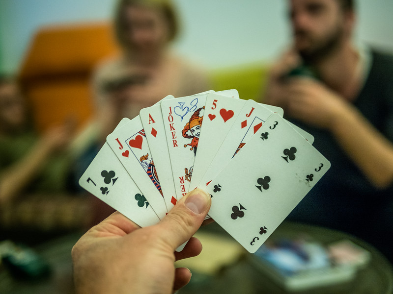 Cardgame at the Hostel, Nazareth