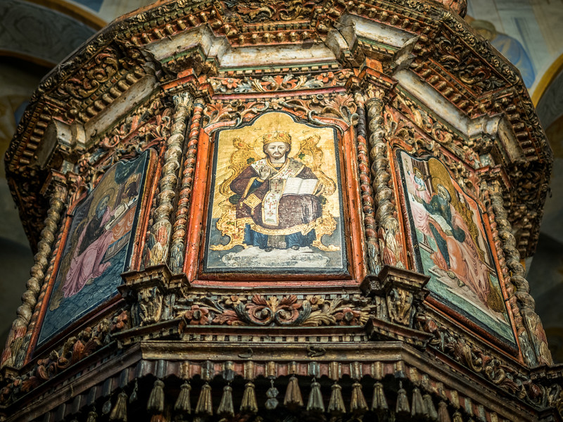 Pulpit Art inside the Greek Orthodox Church, Nazareth, Israel